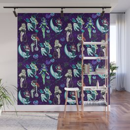 Witches and Black Cats Wall Mural