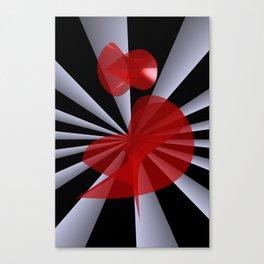 red white black -19- Canvas Print