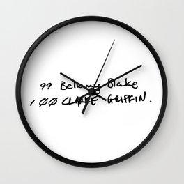 The List Wall Clock