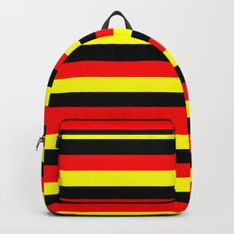angola belgium uganda flag stripes Backpack