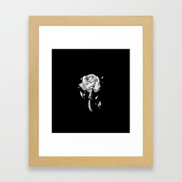 Black Rose Framed Art Print