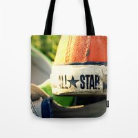 converse Tote Bags featuring Converse by americansummers