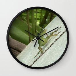 Leaning Lizard Wall Clock