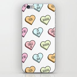 Sassy Valentines Candy Heart Pattern iPhone Skin