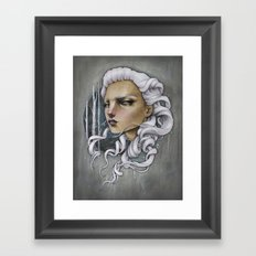 Silver Fox Framed Art Print