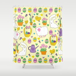 Cute Easter pattern Shower Curtain