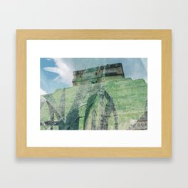 grass logs Framed Art Print
