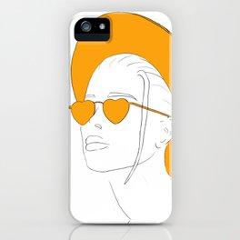 Yellow Hat Girl iPhone Case