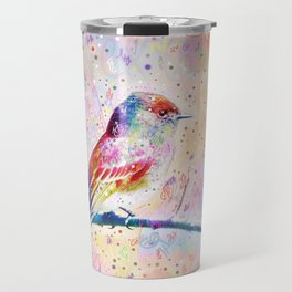 Flashy Phoebe - Black Phoebe Bird Travel Mug