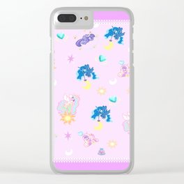 Pony Princess Print Clear iPhone Case
