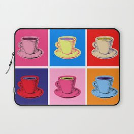 Coffee Mugs Pop Art Style Laptop Sleeve