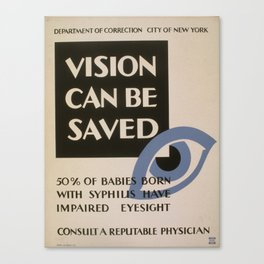 Vintage poster - Vision Can Be Saved Canvas Print