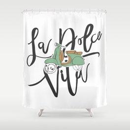 La Dolce Vita Shower Curtain
