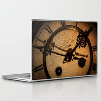 wall clock Laptop & iPad Skins featuring The Clock The Time  by Eduard Leasa Photography