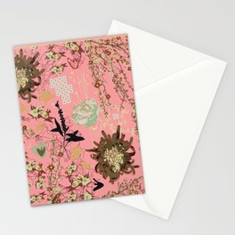 Anniversary Pink and Palm Vintage inspired print Stationery Cards