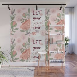 Motivation floral poster Wall Mural