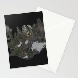 Iceland Map Low Poly Style Wanderlust Stationery Cards