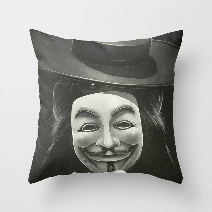 Anonymous II Throw Pillow