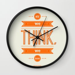 Lab No. 4 - What we think we become Guatama Buddha Quotes Poster Wall Clock