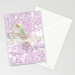 Vintage Map of Tempe Arizona (1952) Stationery Cards