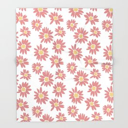 Pastel Flowers Throw Blanket