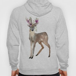 Boho Chic Deer With Flower Crown Hoody
