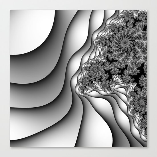 Layers of Snow Canvas Print