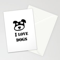 I LOVE DOGS Stationery Cards