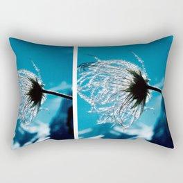 Flower shining in the light snowy mountains #2 Rectangular Pillow