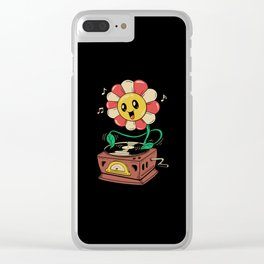 Vinyl Flower Clear iPhone Case