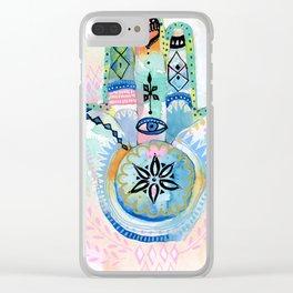 Morocco Hamsa Hand Clear iPhone Case