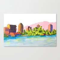 oakland Canvas Prints featuring Oakland by Erik Walker