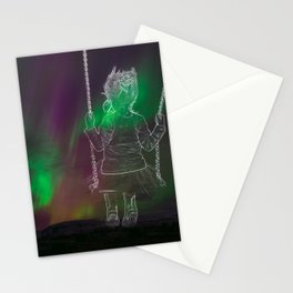 Northern lights dream Stationery Cards