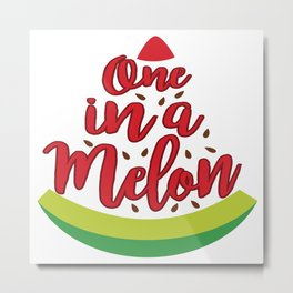 Funny Summer Sun Beach Holiday Fruity Melone Gift Metal Print