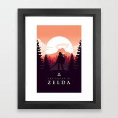 The Legend of Zelda - Orange Version Framed Art Print