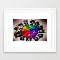 homestuck Framed Art Prints featuring Homestuck Wheel by Darkerin Drachen