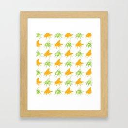 Pretty Flies Pattern Framed Art Print