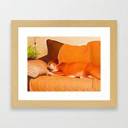 Lucy Sleeping West Framed Art Print