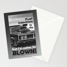 Fuel injection is nice, but I'd rather be BLOWN! Stationery Cards