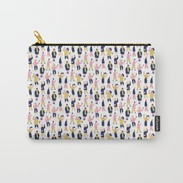 Social Media People Pattern Carry-All Pouch