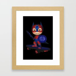The Masked Avenger .. fantasy art  Framed Art Print