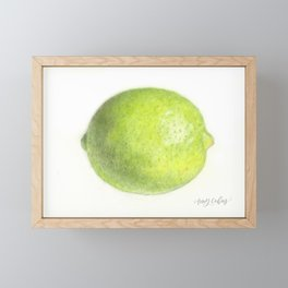 Lime Framed Mini Art Print