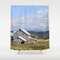 vermont Shower Curtains featuring Vermont Barn by Ashley Callan