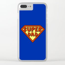 Funny super dad badge Clear iPhone Case
