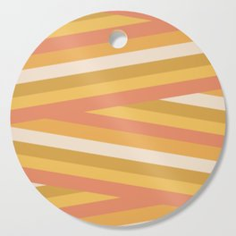 stripey sunny square Cutting Board