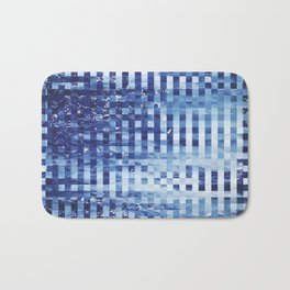 Nautical pixel abstract pattern Bath Mat
