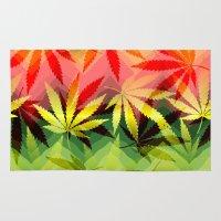 marijuana Area & Throw Rugs featuring Marijuana by SpecialTees