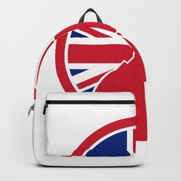 British Private Investigator Union Jack Flag Icon Backpack
