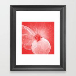 Red Fairy Blossom Fractal Framed Art Print