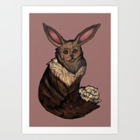 eevee Art Prints featuring Eevee by Papa-Paparazzi